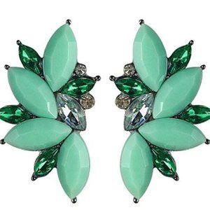 Crystal Earrings Green New Fashion Vintage